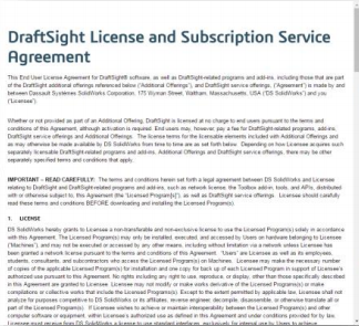 DraftSight License