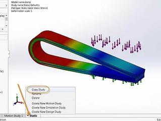 Como converter um estudo estático para um estudo dinâmico linear ou não linear no SOLIDWORKS Simulat