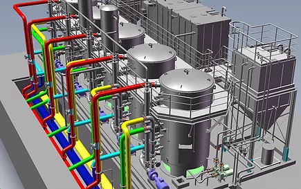 SolidWorks Planta Industrial