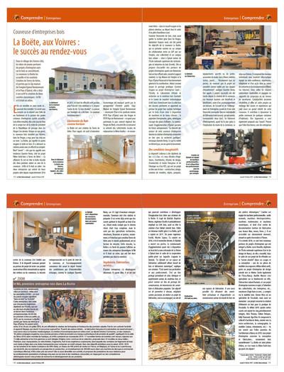 Couveuse d'entreprises bois La Boëte, aux Voivres : le succès au rendez-vous
