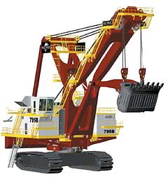 Bucyrus, Inc, líder em equipamentos para a extração de óleo de areias betuminosas, projeta seus produtos com o SolidWorks