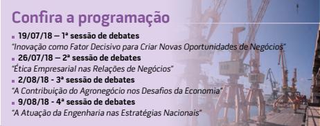 Programação dos Debates do CREA