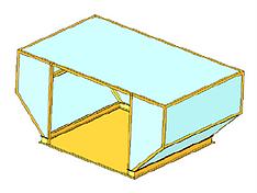 Análise geometria não linear compartimento avião
