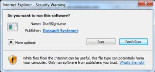 Internet Explorer - DraftSight