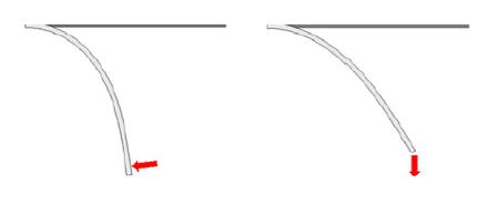 Deformação carga não conservativa