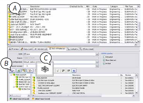 Tela SolidWorks Enterprise PDM