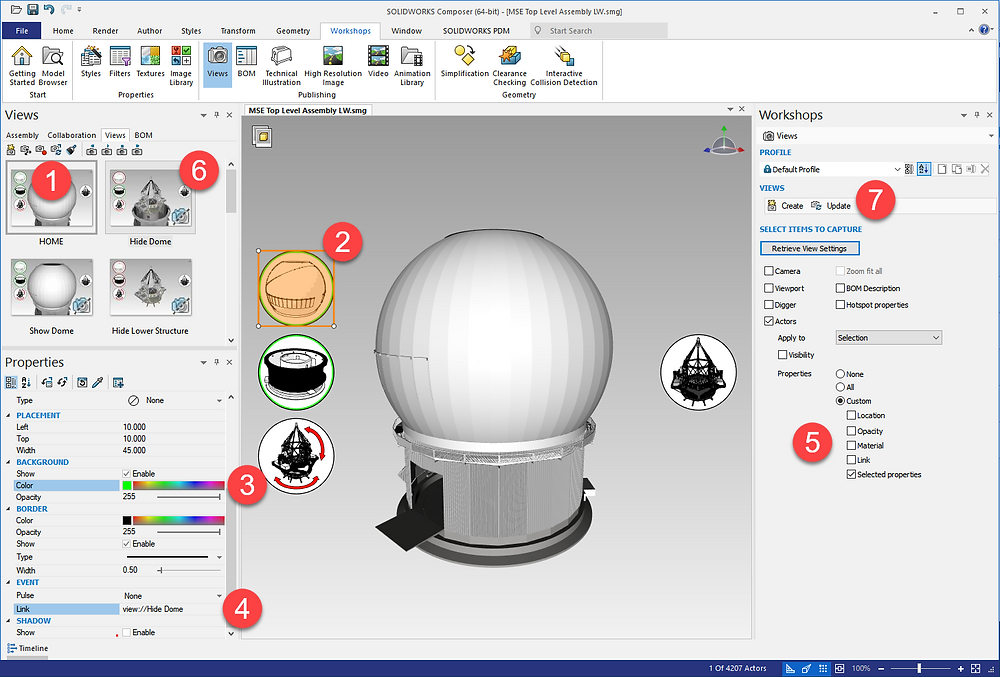 SOLIDWORKS Composer Views