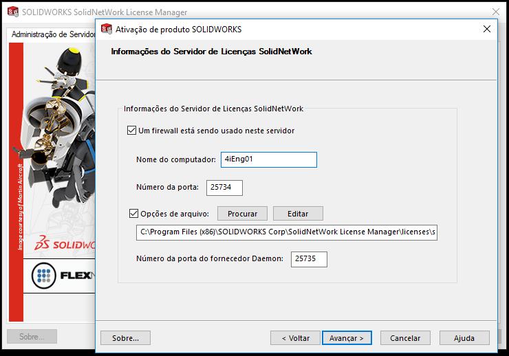 Opções de Arquivo SolidNetWork