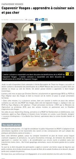 Capavenir Vosges : apprendre à cuisiner sain et pas cher