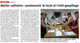 Atelier culinaire : promouvoir le local et l'anti-gaspillage