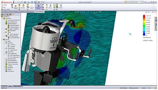 Análise CFD SolidWorks Flow Simulation