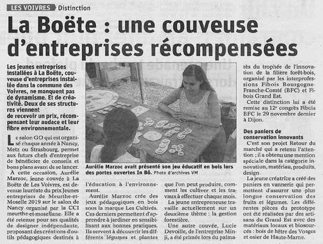 La Boëte : une couveuse d'entreprise récompensée