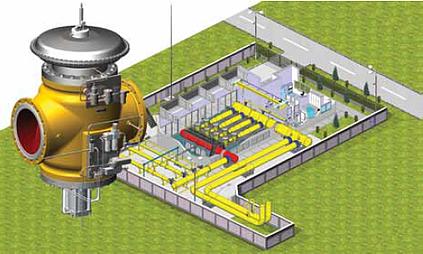 Projeto Petróleo e Gás CAD 3D