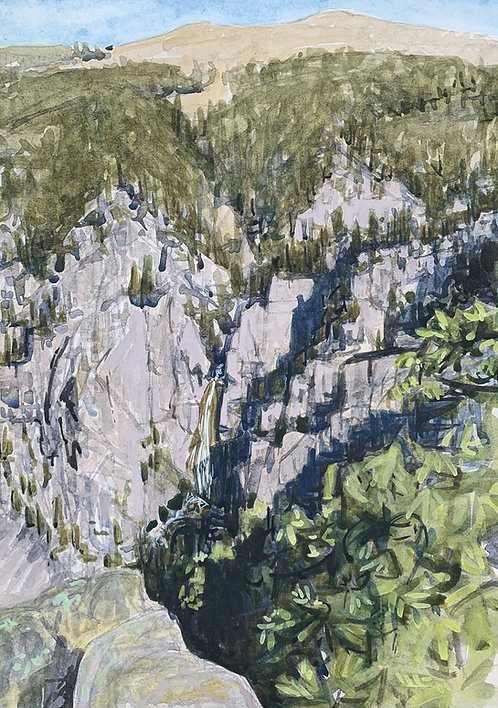 Bucking Mule Falls, The Bighorns
