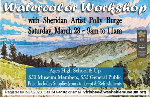 March 28, 2020 Workshop Announcement