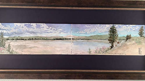 Park Reservoir. The Bighorns.