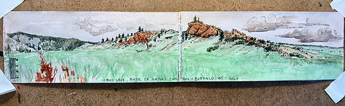 """Bud Love. Base of Sayles Canyon. Buffalo, Wyo. July"""
