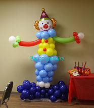 Balloon+decor+Clown+sculpture+character+
