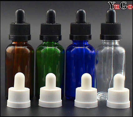 GR-1# Europe Round Glass Bottle Clear Blue/Cyan Amber Green