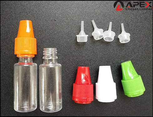 PR-10# 10ml PET Beri Cap Child Proof Tamper Evident E-Liquid Bottle