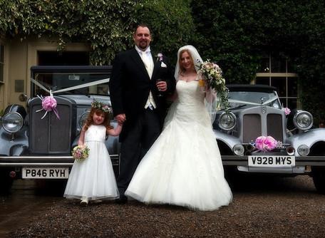 Silver Vintage Style Wedding Car Hire in York