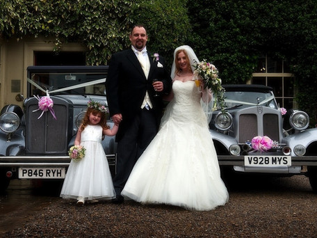 Silver Vintage Style Wedding Car Hire in York