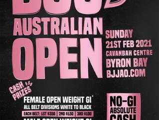 BJJ Australian open 2021 | 21st Feb | Byron Bay, Australia