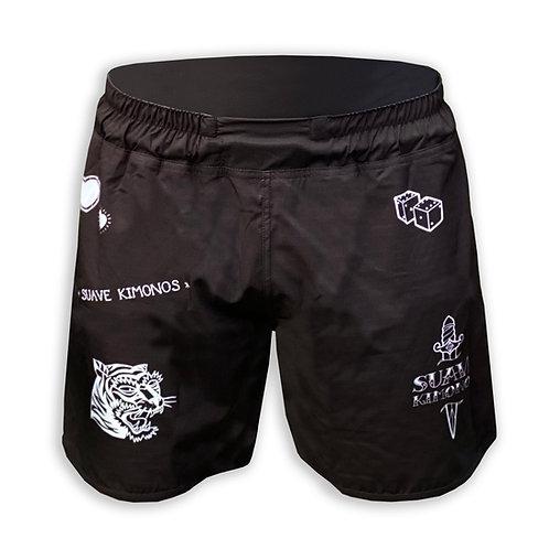 No-Gi Shorts | Two Tigers | Black