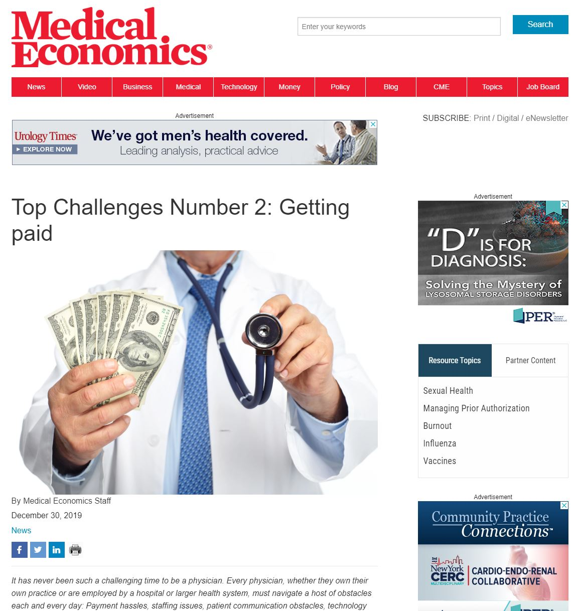 Medical Economics Study
