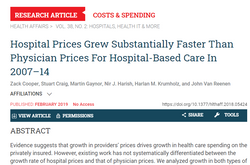 Hospitals help drive up healthcare costs