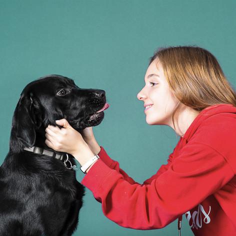 Silvia & the black Labrador