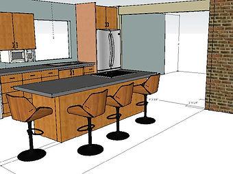 Interior design 3D design modeling.