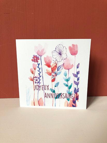 """Carte de voeux """"Joyeux anniversaire"""""""