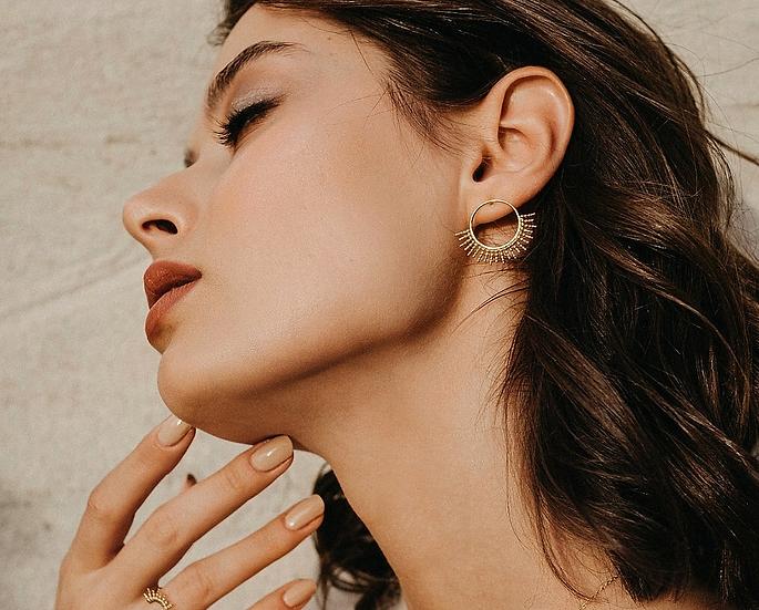 Les Boucles d'oreilles Bali maxi dorées