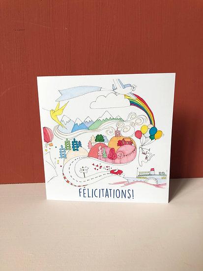 """Carte de voeux """"Félicitations"""""""