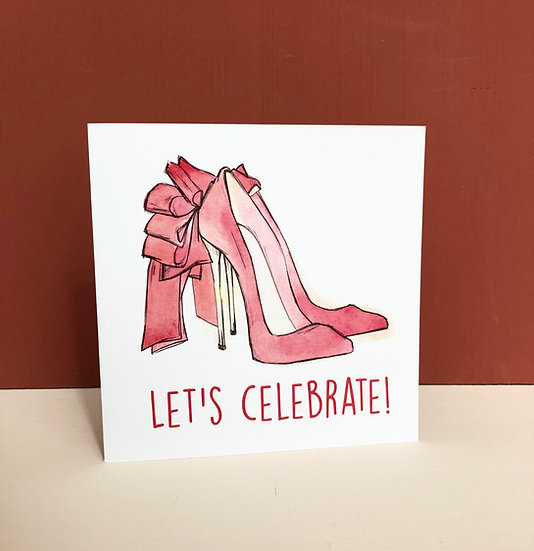 "Carte de voeux ""Let's celebrate!"""