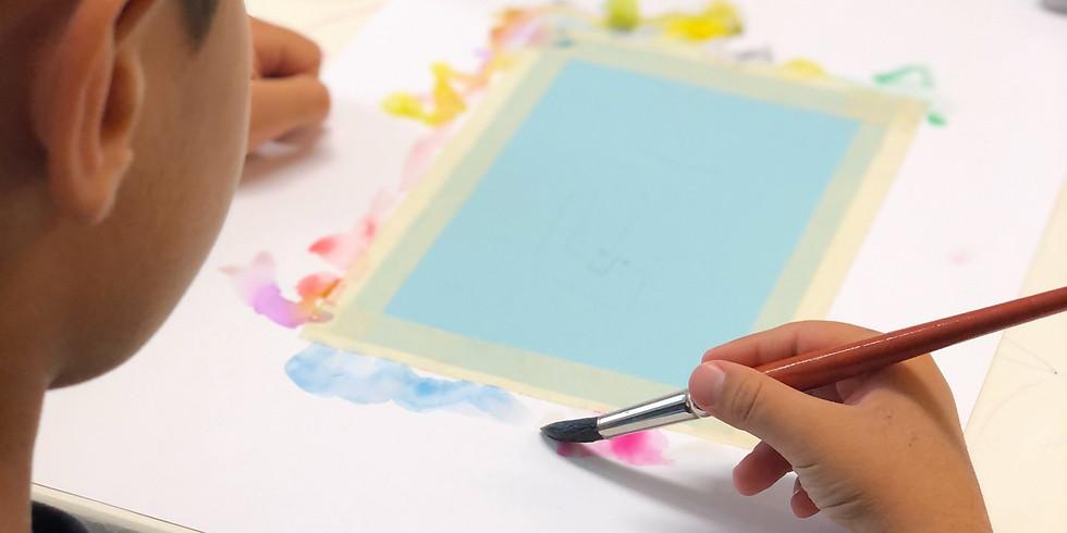Introduction à l'aquarelle pour enfants et ados COMPLET