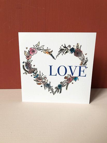 """Carte de voeux """"Love"""""""
