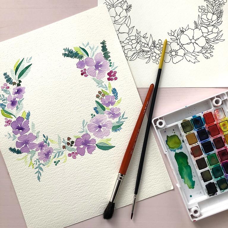 Atelier aquarelle printanière