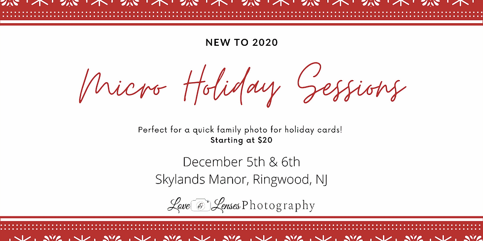 Micro Holiday Sessions