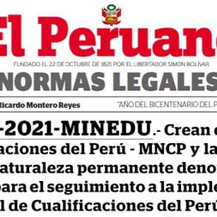 Estado Peruano aprueba Marco Nacional de cualificaciones