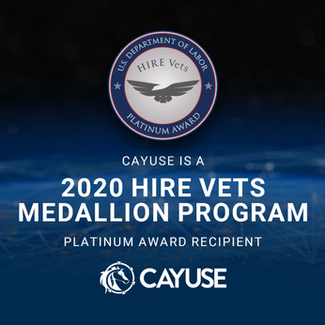 Cayuse Receives 2020 Hire Vets Medallion Award