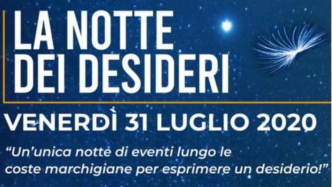 """31 luglio: """"La notte dei desideri"""" nelle 23 città costiere delle Marche, in collegamento con 7 radio"""