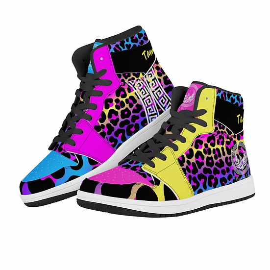 "Tamisha Iman ""African Inspired"" Multi-color High Top Sneakers"
