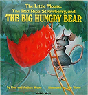 little mouse red ripe strawberry and big