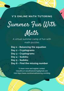 Summer Math Enrichment Activities