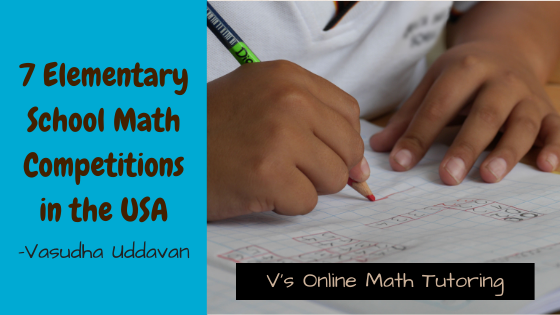 5 Elementary School Math Competitions held in the USA
