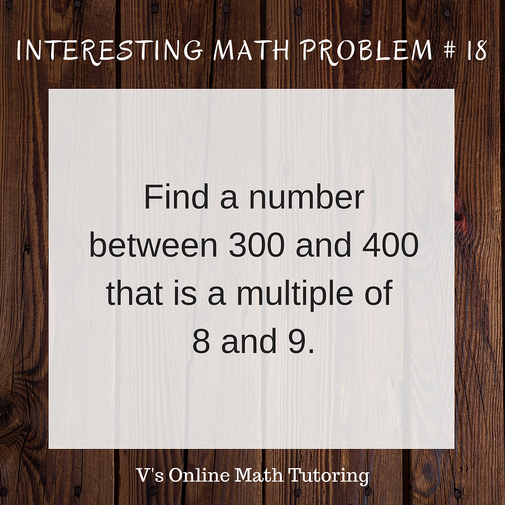 Interesting Math Problems - Problems that make you think :)