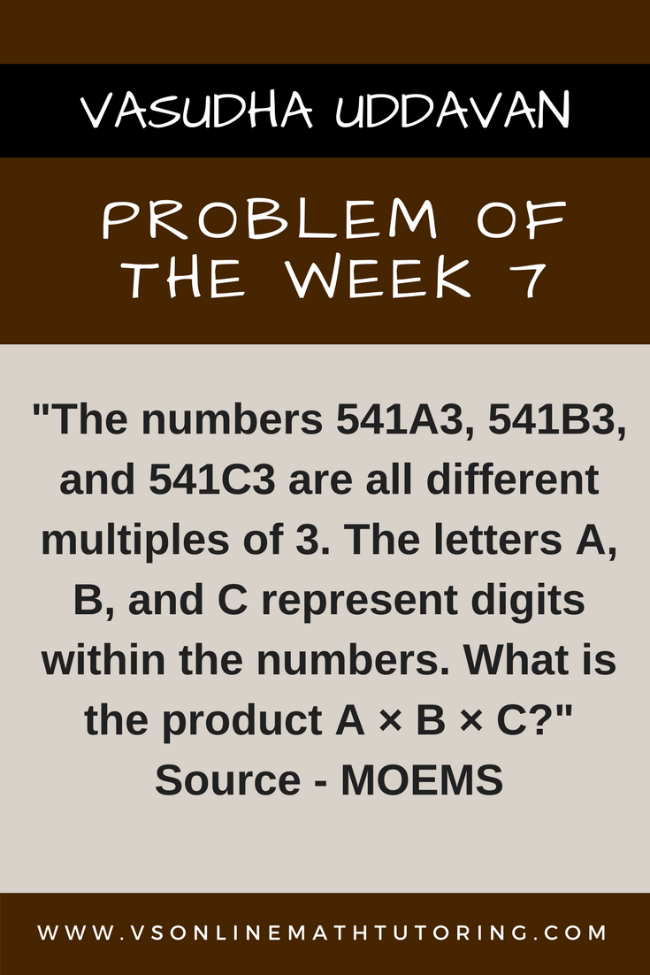 Math Competition Problems - Problem of the Week 7
