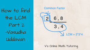How to find the LCM of 6 & 8